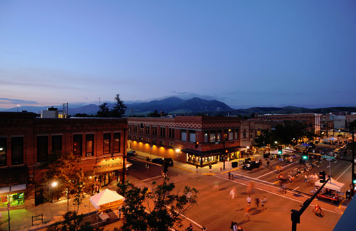 Bozeman town night pic
