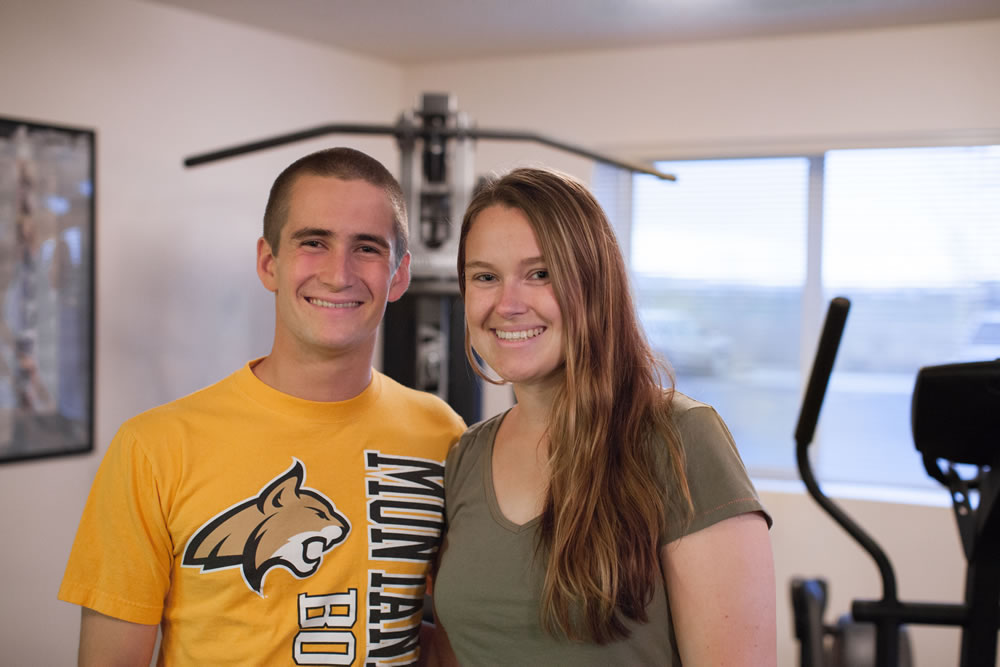 happy young couple tenants
